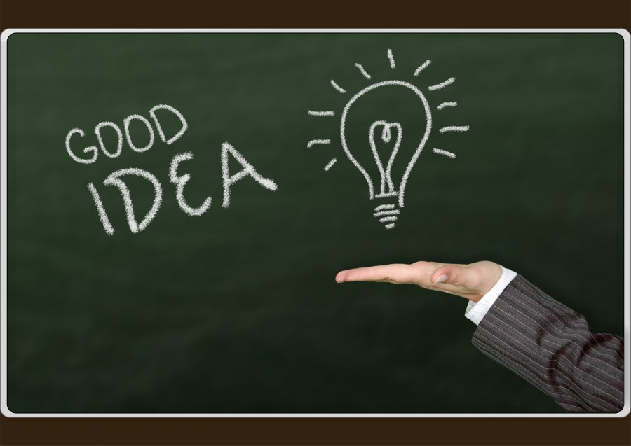 idea, concept, hand, blackboard, focus, lamp, lamp, good idea, hand, presentation, creativity, creative,