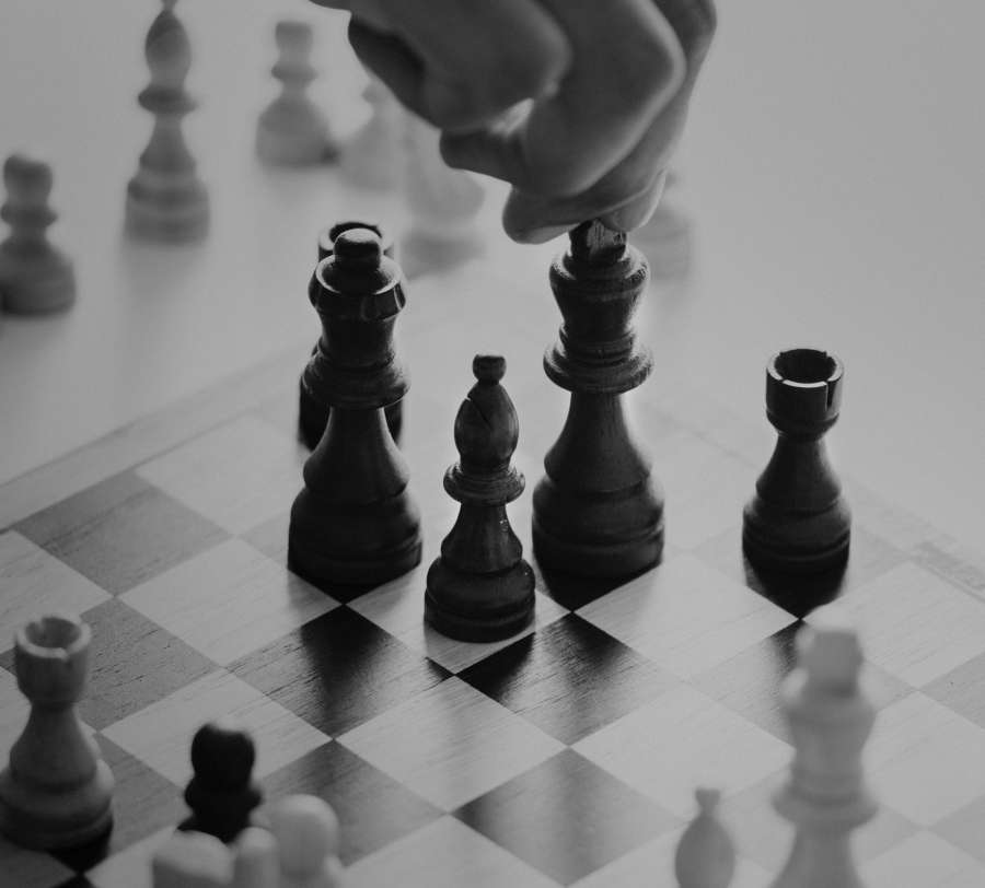 movement, chess, move, play, play, game, strategy, concept, black and white,