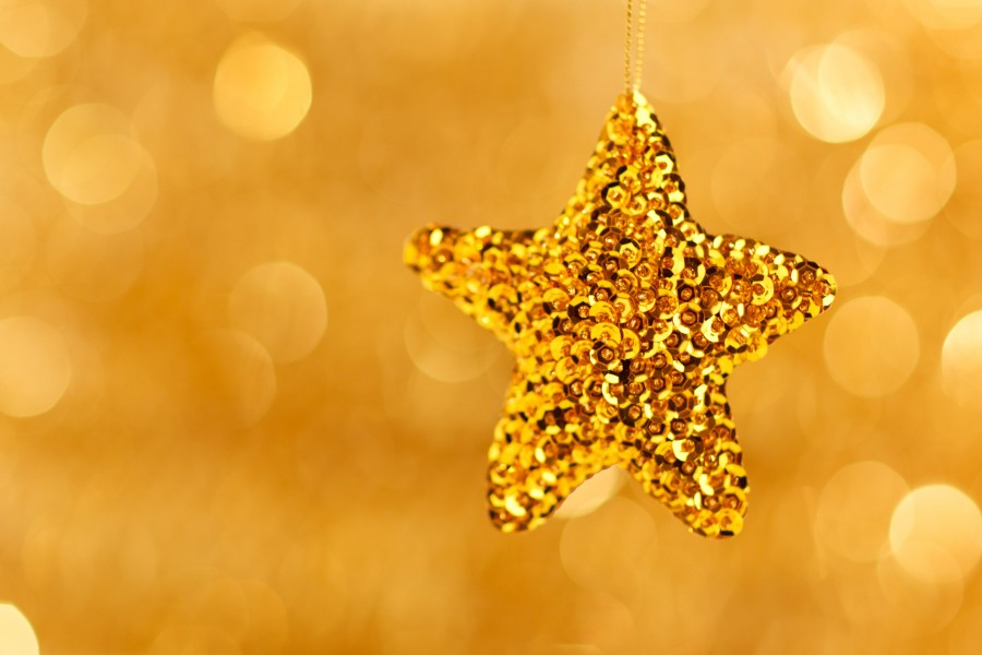 christmas, detail, ornament, decoration, celebration, 2015, celebration, star, gold,
