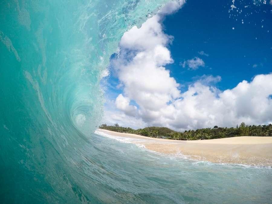 wave, sea, coast, beach, landscape, summer, nobody,