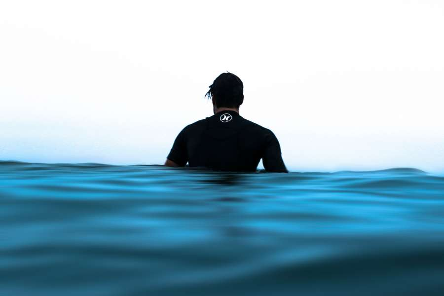 water, blue, sea, background, background, surf, one person, surfer, tropical, coast, sport, tranquility, float, floating, waiting, calm,