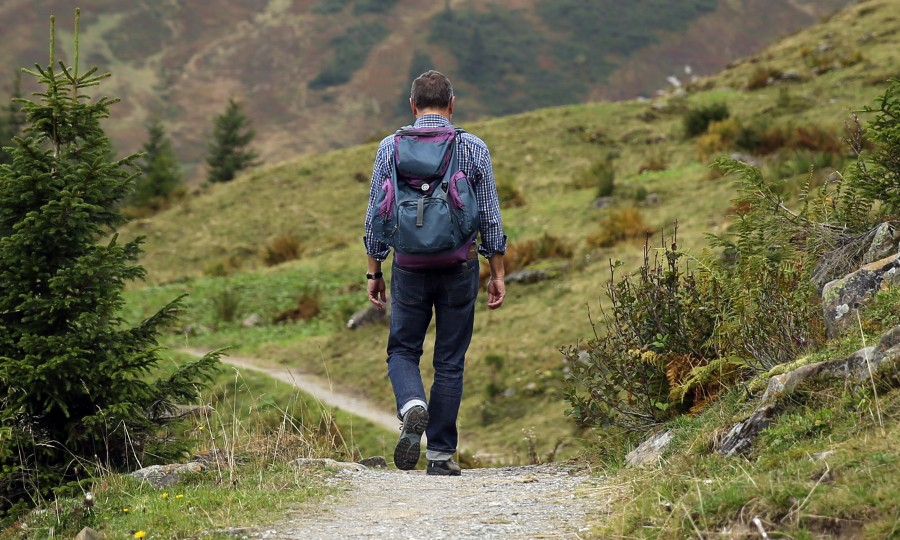 trekking, man, hiking, backpacking, outdoors, outside, sport, walking, hiking, adventure, road, nature,