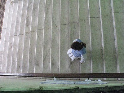 a person, seen from above, people, climb stairs, i