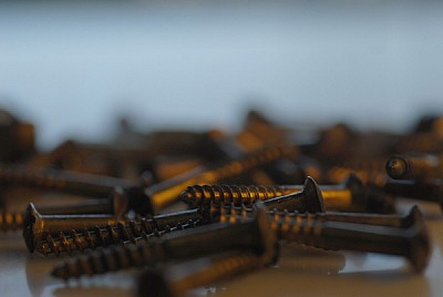 free images  Wooden screws on a table