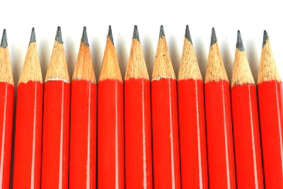 free images  prod03 red pencil, pencils, row, rows, concept, no