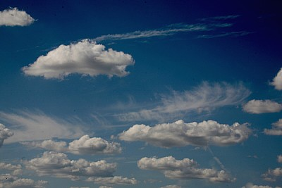 free images  prod04, sky, blue sky, cloud, clouds, day, view fr