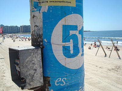 beach, day, outside, pole, light pole, poster, pas