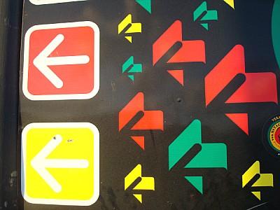 poster, color, colors, fluo, fluorine, arrow, arro
