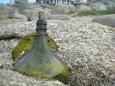 coast, concept, concepts, bottle, message, green g