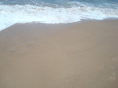 sand, beach, coast, sea foam floor, nobody, front