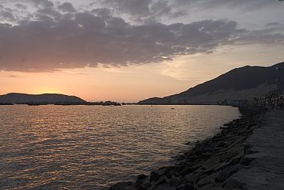 free images  , Sunset, sunset, sunset, peru, sunset, coast, sea