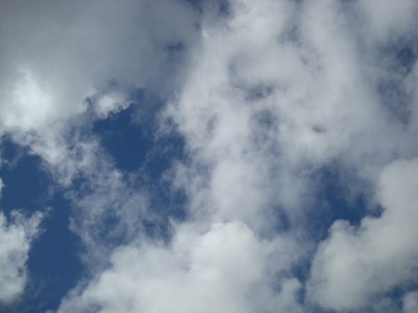 heaven, heavens, no, view from below, cloud, clouds, blue, nature, white, blue, air, day, exterior, cloudy, prod05