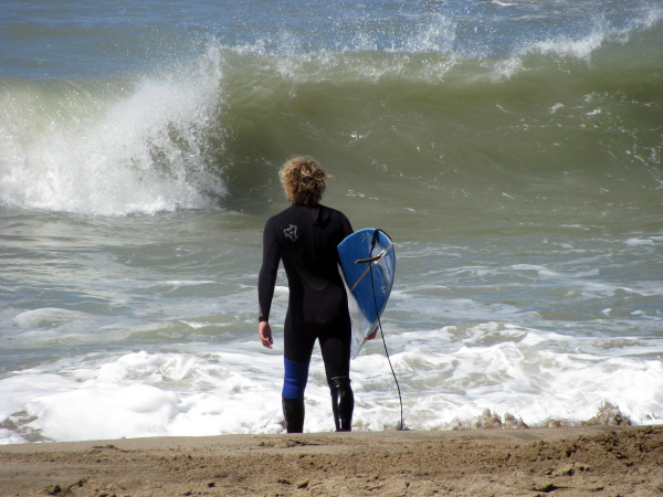 prod06, america, south america, south america, Argentina, Buenos Aires, costa atlantica, silver sea, coast, one person, people, man, young, 20, 25, surf, summer, vacation, sport, surf, summer , vacacioneser, surf, summer, vacacioneseando board extreme risk, ac